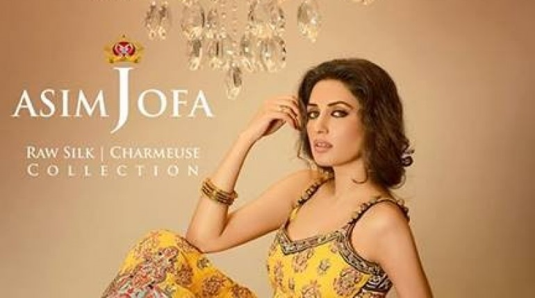 Asim Jofa Raw Silk Dresses 2013-2014 for Women