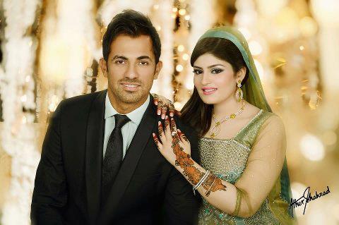 Celebrity Wedding 2013-wahab riaz