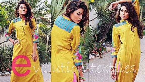 Evolution Textiles Winter Dresses 2013-2014 For Women 001