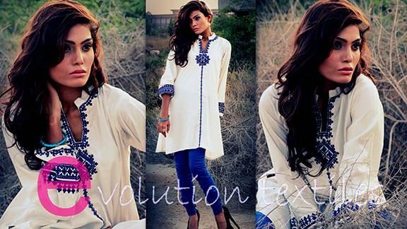 Evolution Textiles Winter Dresses 2013-2014 For Women 004