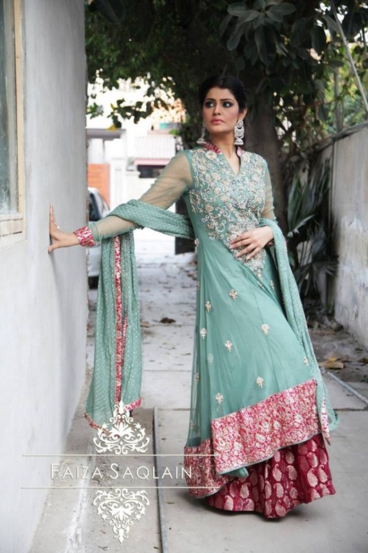 faiza saqlain formal dresses 2014 for women