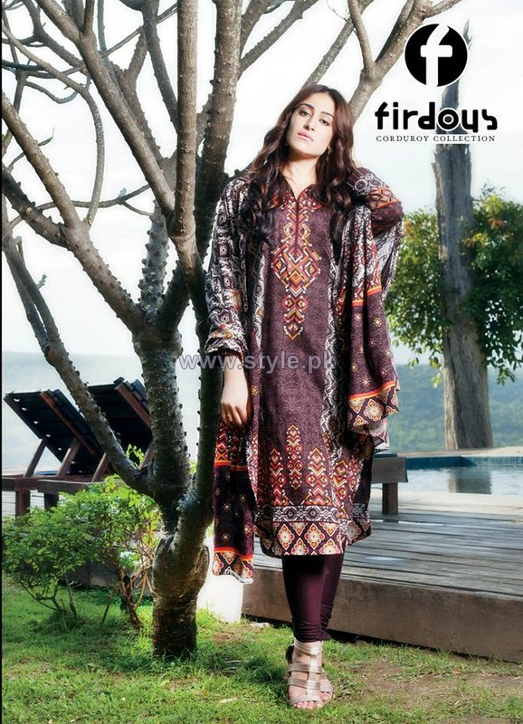 Firdous Fashion Corduroy Collection 2013-2014 For Winter 10