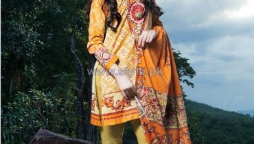 Firdous Fashion Corduroy Collection 2013-2014 For Winter 12