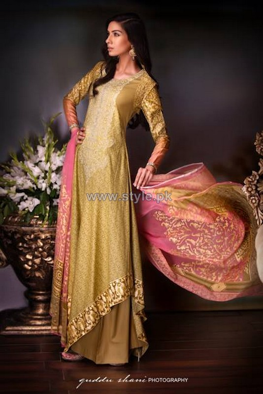 Ittehad Textile Printed Silk Dresses 2014 For Women 4