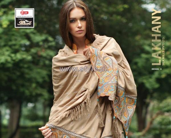 LSM Fabrics Merino Shawl Designs 2013-2014 For Winter 2