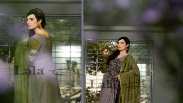 Lala Sana and Samia Celebre Embroidered Winter Dresses 2013-2014