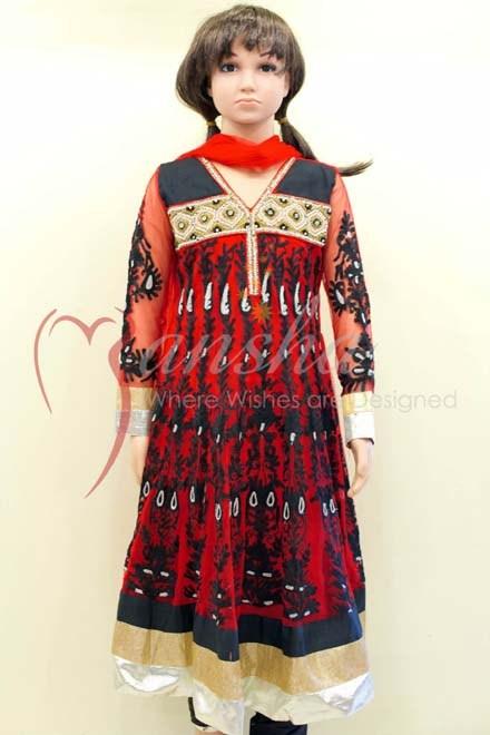 Mansha Winter Dresses 2013-2014 For Kids 001