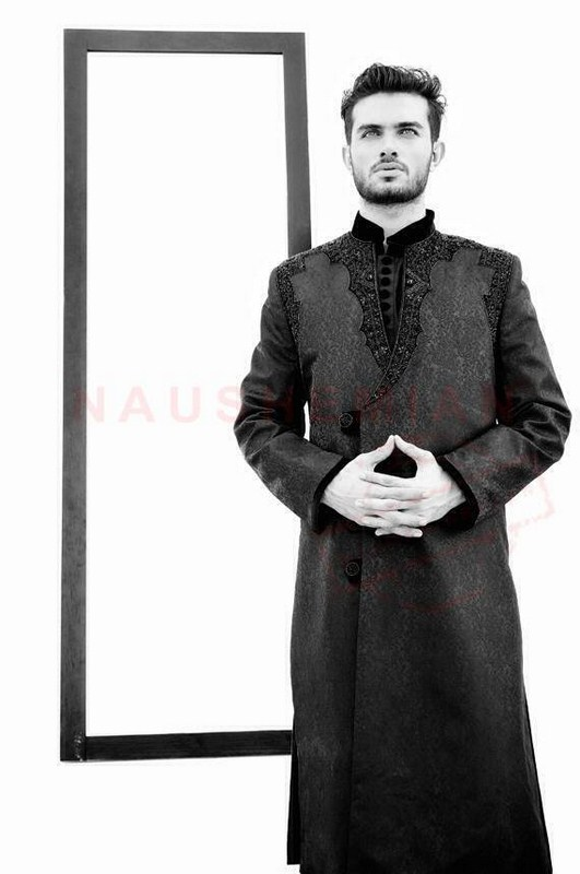 Naushemian Sherwani Designs 2013-2014 For Men