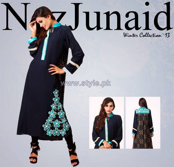 NazJuniad Winter Dresses 2014 For Girls 2