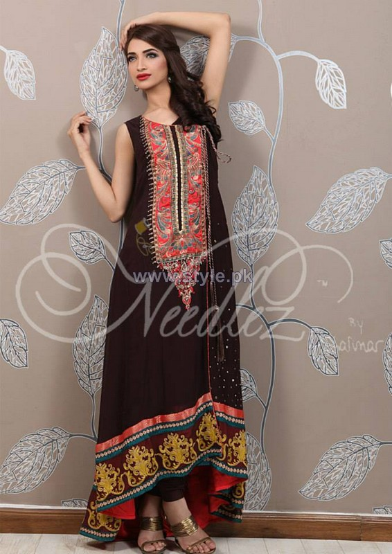 Needlez by Shalimar Winter Dresses 2014 For Girls 2