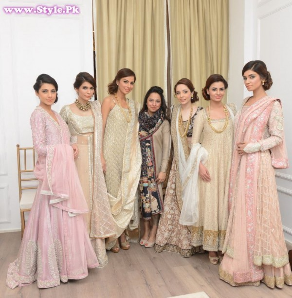 Nida Azwer with all the models