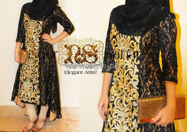 7659c0c01 Noor Sahar Winter Dresses 2014 For Women