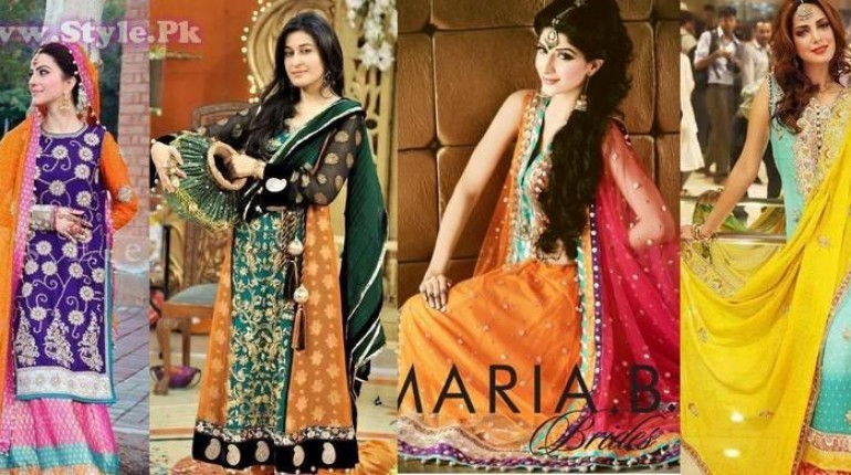 744434e841c1 Pakistani Mehndi Dresses 2014 for Girls