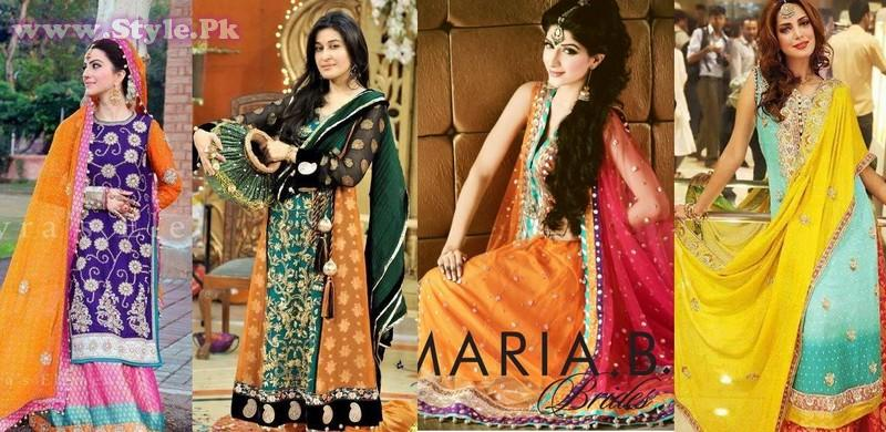Pakistani Mehndi Dresses 2014 for Girls010 style exclusives pakistani dresses new fashion fashion trends bridal dresses