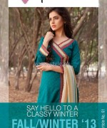 Phulkari by Taana Baana Winter Dresses 2013-2014 For Girls 5