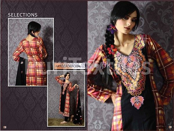 Puri Textiles Embroidered Dresses 2014 For Women 7