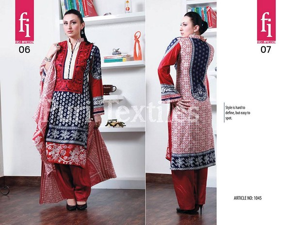Puri Textiles Winter Dresses 2013-2014 For Women 005