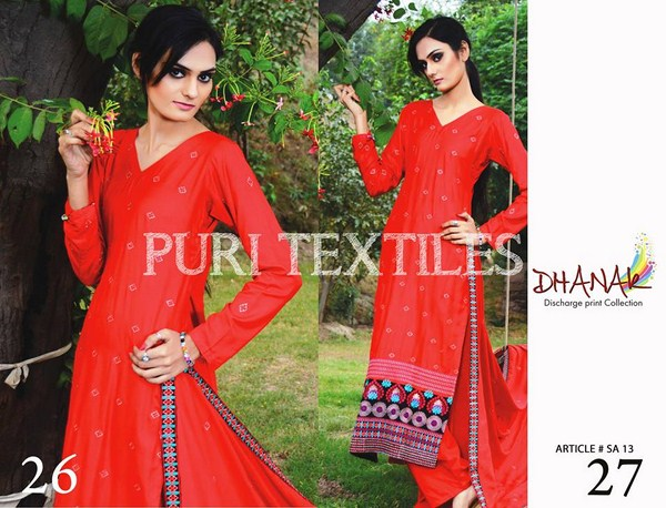 Puri Textiles Winter Dresses 2013-2014 For Women 006