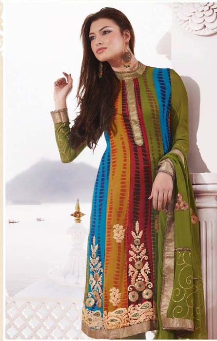 R Sheen Winter Dresses 2014 For Women 0010