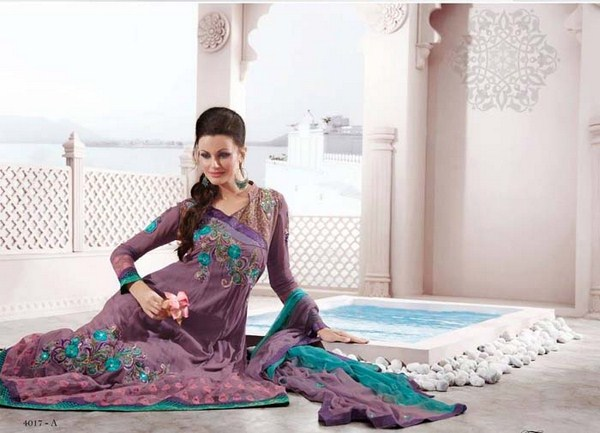 R Sheen Winter Dresses 2014 For Women 006
