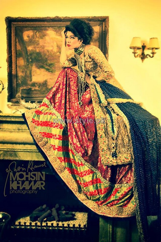 Rana Noman Bridal Wear Dresses 2014 For Girls 3