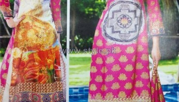 Rashid Textiles Digital Linen Dresses 2014 For Winter 1