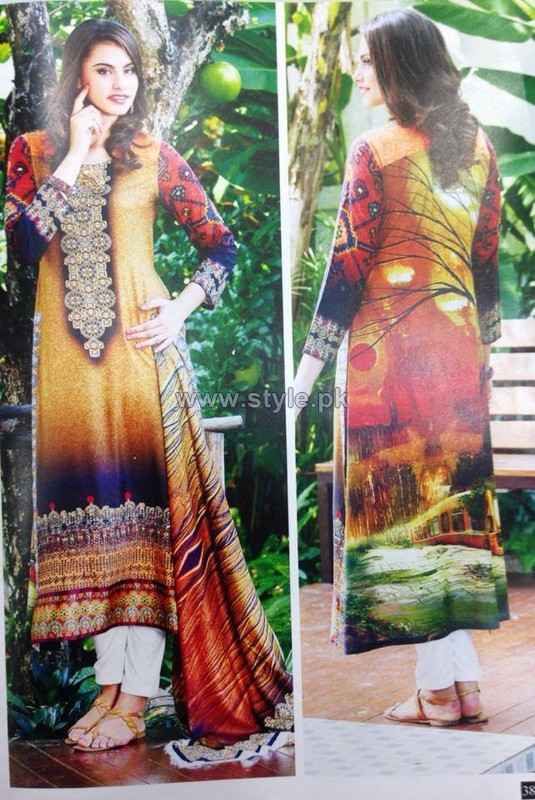 Rashid Textiles Digital Linen Dresses 2014 For Winter 7