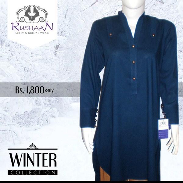 Rushaan Winter Dresses 2014 For Women