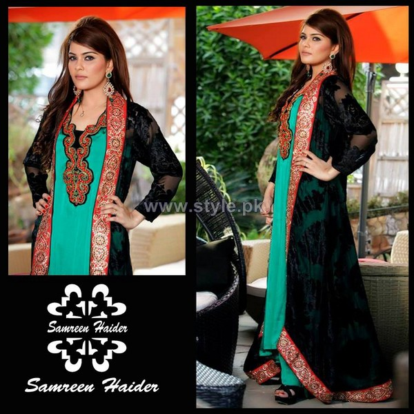 Samreen Haider Winter Dresses 2014 For Girls 5 pakistani dresses