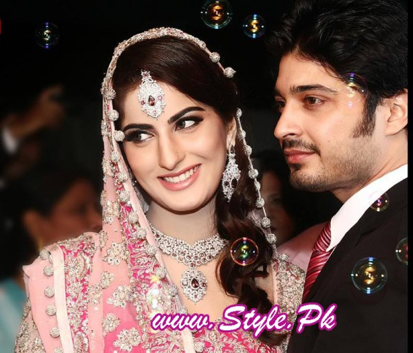 Sana Khan and Babar Khan Wedding Pic 03 600x513 celebrity gossips bridal dresses