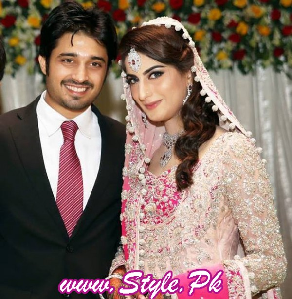 Sana Khan and Babar Khan Wedding Pic 07 600x613 celebrity gossips bridal dresses