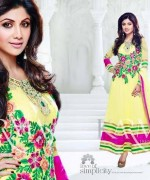 Shilpa Shetty Anarkali Suits 2014 for Girls010