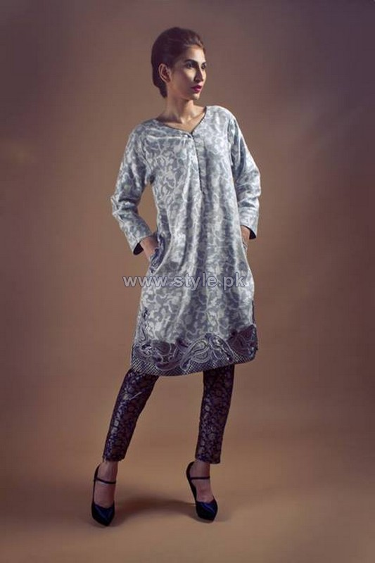 Umbereen and Sharmeen Winter Dresess 2013-2014 For Women 4