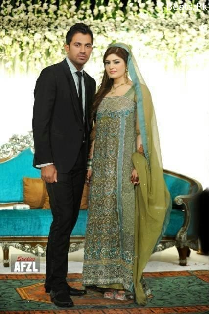 Wahab Riaz And Zainab Chaudhary Wedding Nikha Walima Barat Pictures