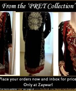 Zaywar Winter Dresses 2013-2014 For Women 003