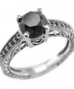 Black Diamond Engagement Rings001