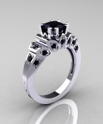 Black Diamond Engagement Rings009