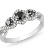 Black Diamond Engagement Rings010