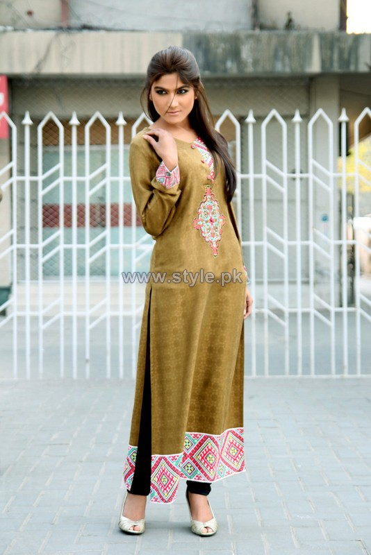 Damak Mid Winter Dresses 2014 For Girls 3