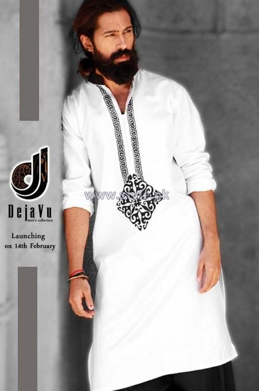 deja vu kurta shalwar designs 2014 for men