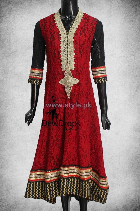 Dewdrops Couture Winter Dresses 2014 For Girls 4