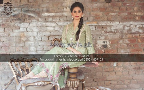 Farah and Fatima Couture Winter Dresses 2014 For Girls 10