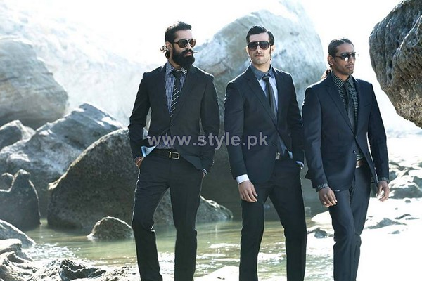 Firdous Fashion Men Suiting 2014 For Winter 7