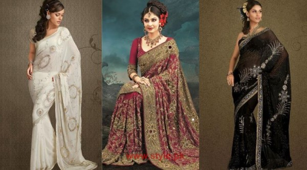 Indian Bridal Sarees 2014 Pictures 600x333 new fashion fashion trends