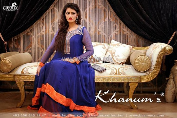 Khanumz Winter Dresses 2014 For Women 8