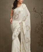 Latest Designs Of Indian Bridal Sarees 2014 For Women 002