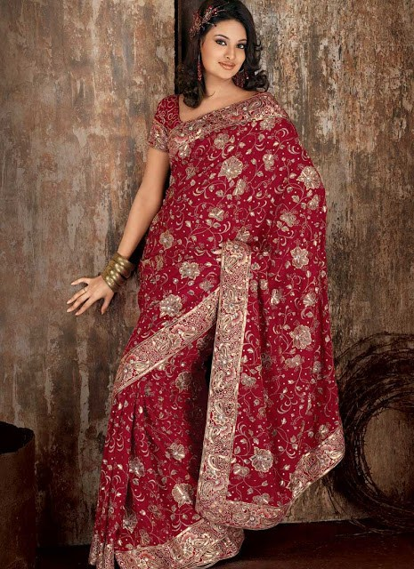 Latest Designs Of Indian Bridal Sarees 2014 For Women 005 new fashion fashion trends