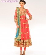 Latest Fashion of Frock Designs 2014 in Pakistan010