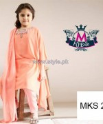 Maria B Kids Wear Dresses 2014 For Winter 6