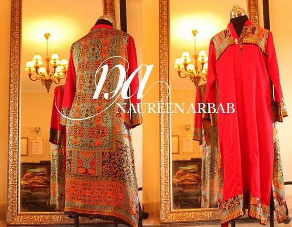Naureen Arbab Winter Dresses 2014 For Girls 004